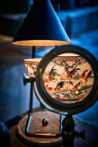 An illuminated bowl