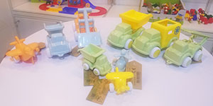 Durable toy vehicles made from sugarcane