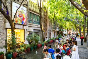 The Lingnan Tiandi attraction in Foshan Ancestral Temple area
