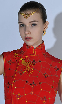 A cheongsam in THE SPARKLE COLLECTION – Modern Couture