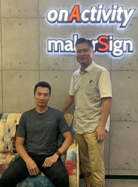 onActivity Limited Co-founders Falcon Tam (left) and Kelvin Lam