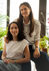 Myriam Tzinmann-Rebibo and Lucie Veron