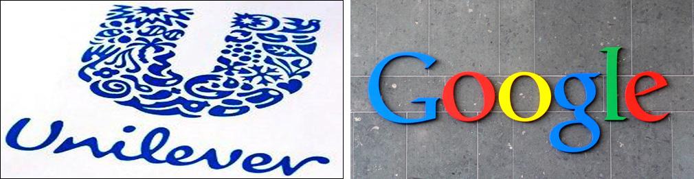 照片:联合利华与谷歌:人才品牌指数榜上的明星。
