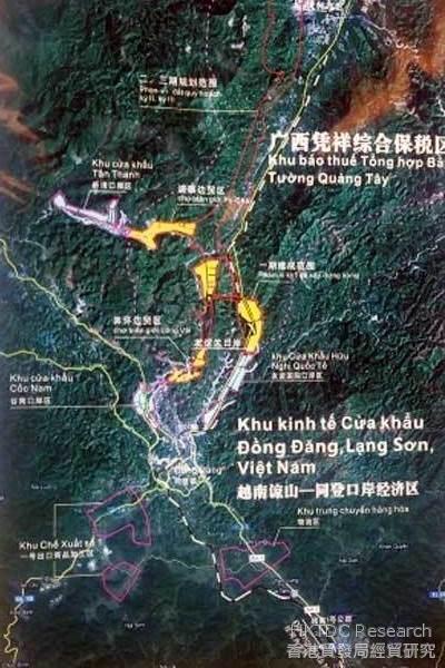 Photo: The Pingxiang-Lang Son border.