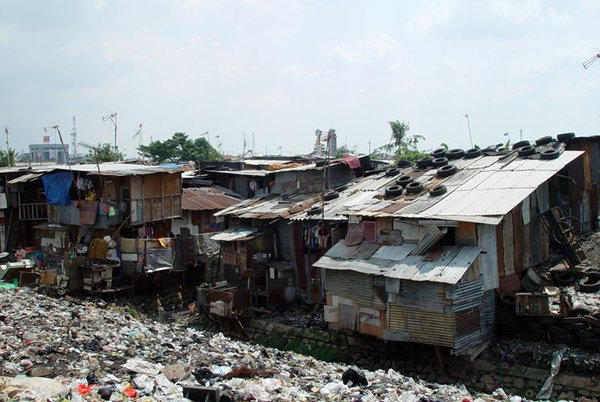 Photo: Jakarta slums: Set to be cleared in a massive China-backed development programme.