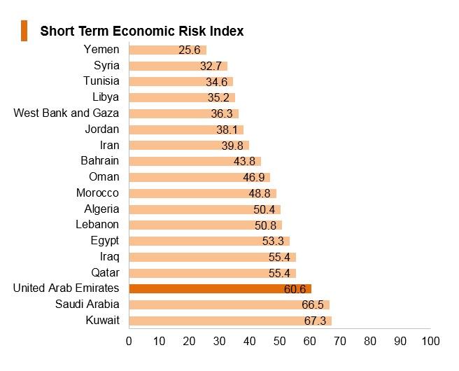 Graph: UAE short term economic risk index