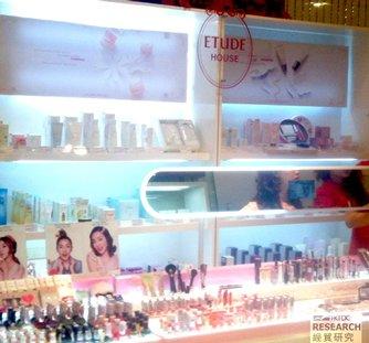 圖: 百貨公司內的外國美容化妝品品牌
