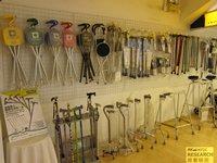 相片:不同類型的手杖
