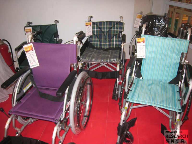 Different models of wheelchair.