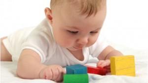 相片:簡單的玩具能吸引小寶寶觸摸