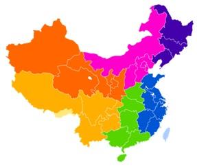 圖: 中國內地服務外判示範城市分布