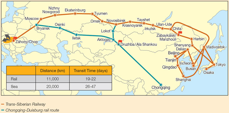 Picture: Hungary's rail connections with Asia