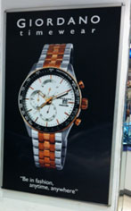 Photo: Giordano Watches counter in a department store