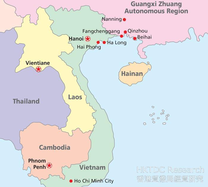 Chart: Guangxi borders Vietnam, an ASEAN member state