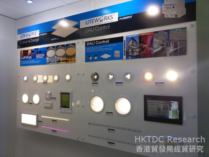 相片:秋季燈飾展會上展示的 LED照明系統