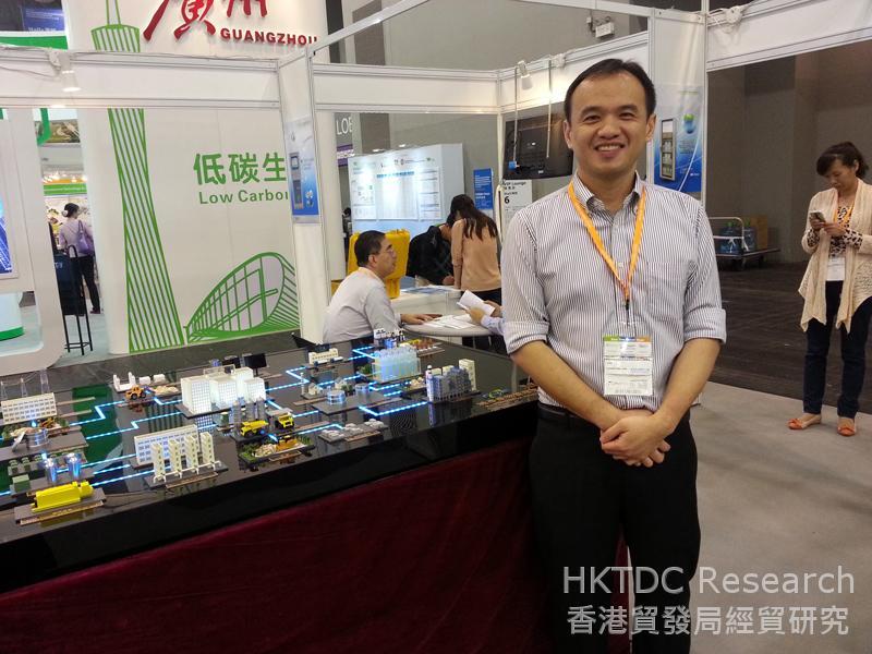相片:東江在「國際環保博覽2013」展示環保服務