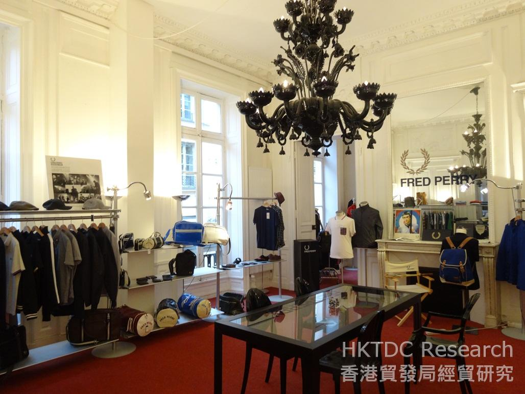 Photo: A showroom in Paris displaying the latest collection of several British fashion brands