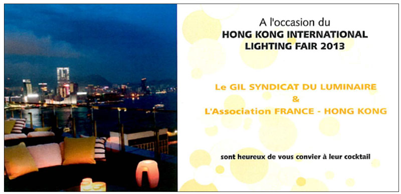 Picture: A cocktail reception hosted by the French Federation of Lighting in Hong Kong