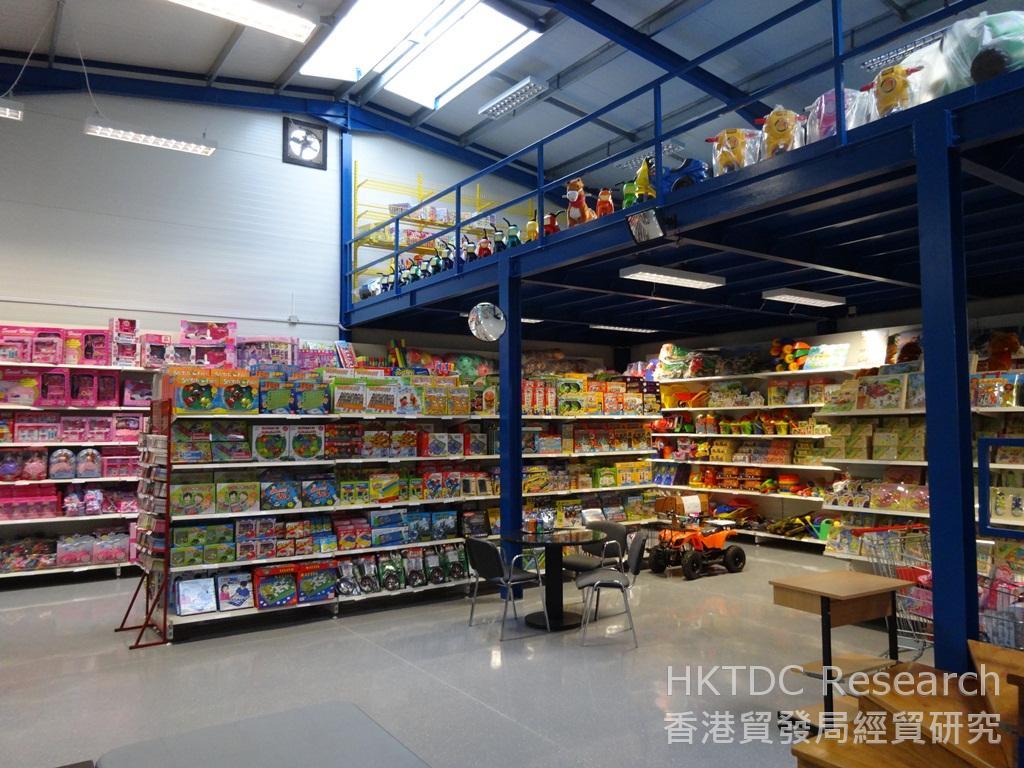 相片:在匈牙利,玩具店東主喜歡前往陳列室瀏覽及採購進口商/批發商推出的新款玩具。