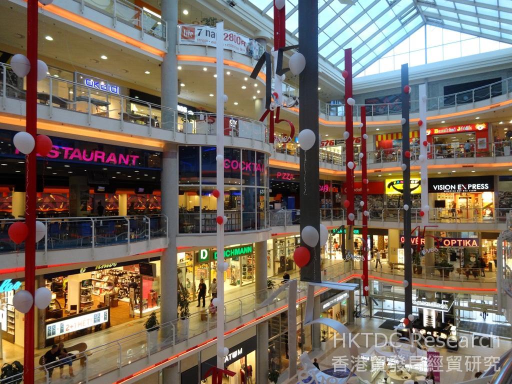 相片:布達佩斯市內主要的購物商場Mammut