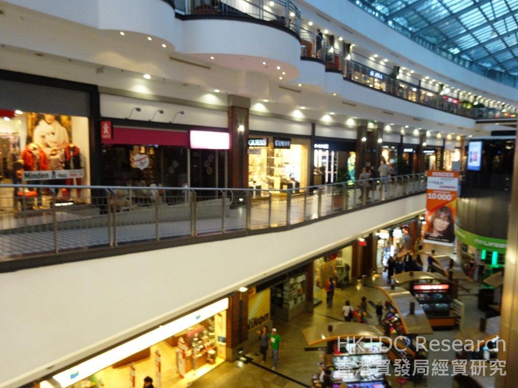 相片:布達佩斯市內主要的購物商場West End City Center