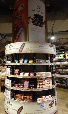圖: 在現代化超市出售的外國品牌