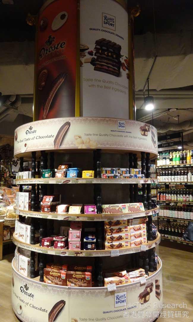 图: 在现代化超市出售的外国品牌
