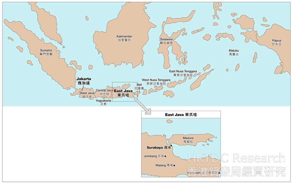 地图: 印尼