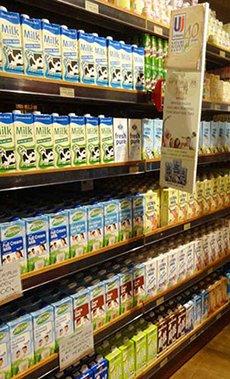 图: 超市出售的进口产品范围广泛