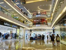Photo: Sogo and Marks & Spencer at Central Park shopping mall in Jakarta