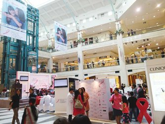 Photo: PR activities co-organised by shopping malls and brands