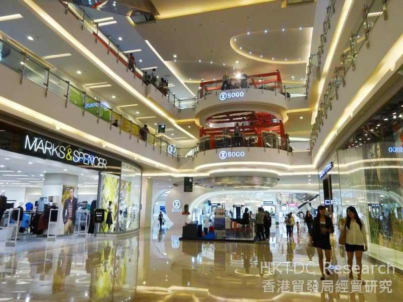 圖: 雅加達中央公園購物商場的崇光及馬莎百貨