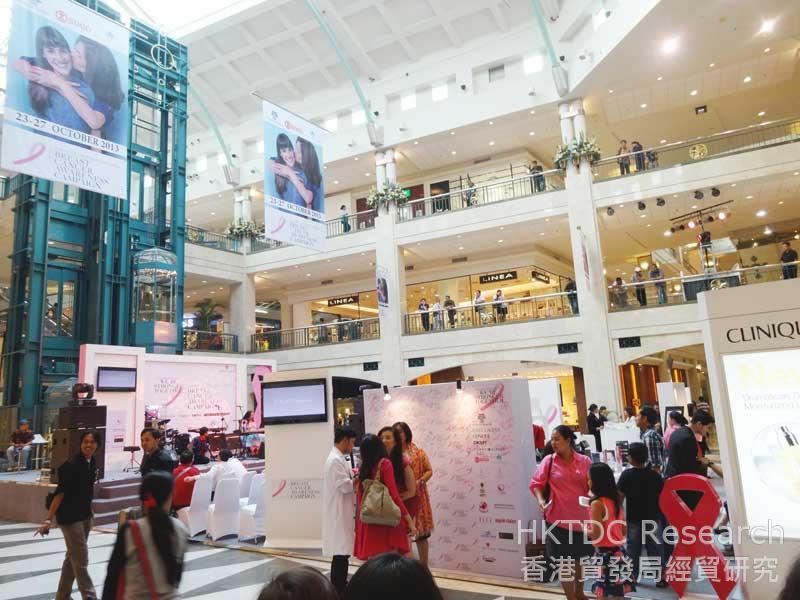 图: 购物商场与品牌合办的公关活动