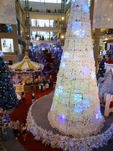 Photo: Christmas decorations at a mall