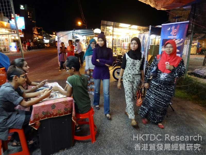 Photo: A night market scene