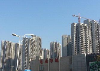 相片:鄭州西面中原區近棉紡路在建的新住宅區