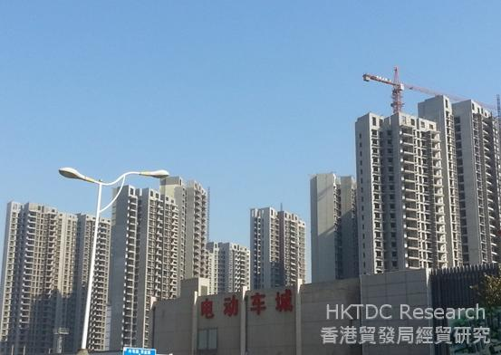 Photo: A new residential project being built near Mianfang Road in Zhongyuan District