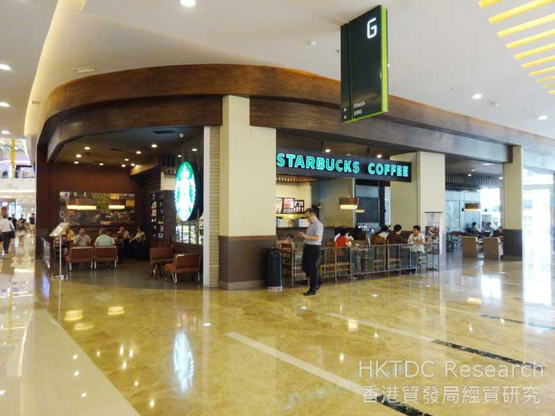 Photo: International cafe brands have a strong presence in shopping malls