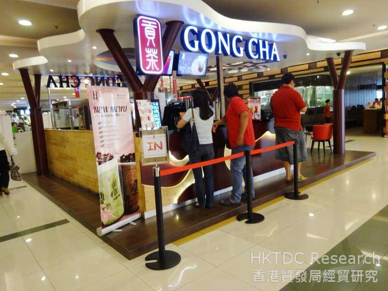 圖: 外國小食及飲品店備受印尼消費者歡迎。
