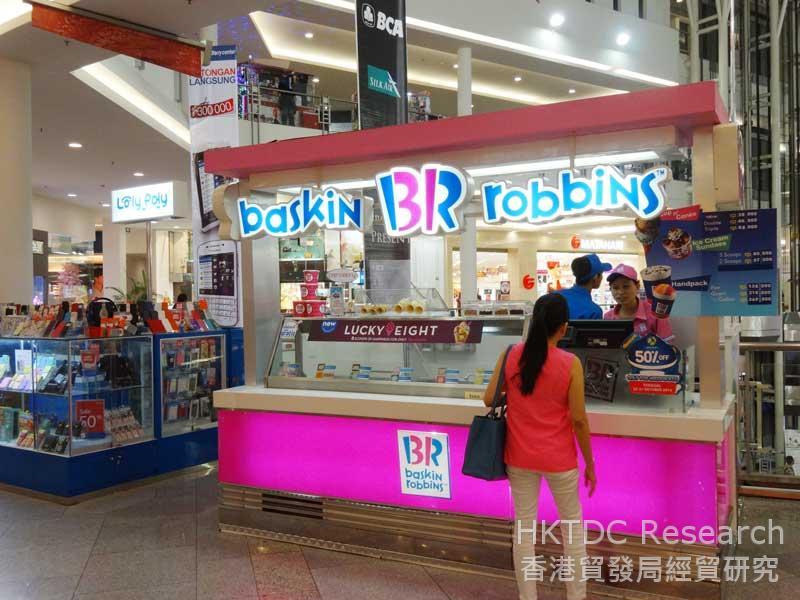 圖: Baskin Robbins在印尼市場穩佔一席位。