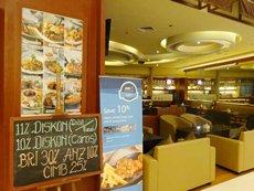 图: 餐厅向信用卡持有人提供折扣优惠。