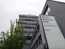 相片:瑞士一个商业园区提供现代化办公空间和设备齐全的实验室