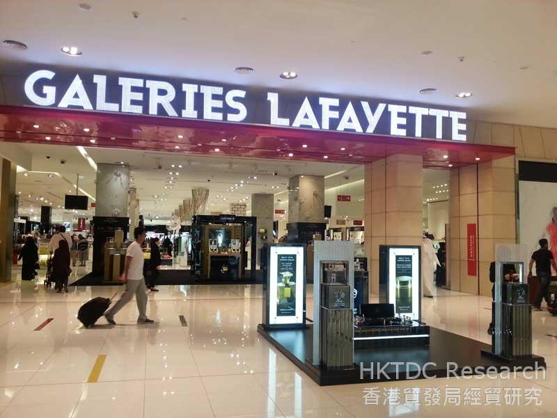 圖: 迪拜購物中心的老佛爺百貨(Galeries Lafayette)