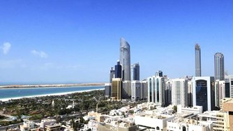 Photo: A view of central Abu Dhabi city