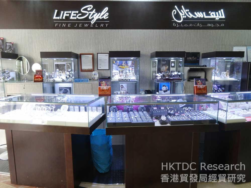 圖: 迪拜的LifeStyle Fine Jewelley是香港珠寶製造商的附屬公司