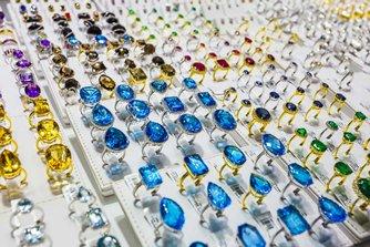 圖: 迪拜黃金市場出售的珠寶首飾