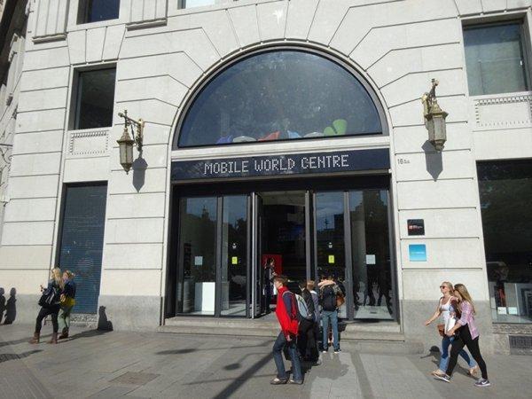 相片:世界流動通訊中心位於巴塞羅那市中心