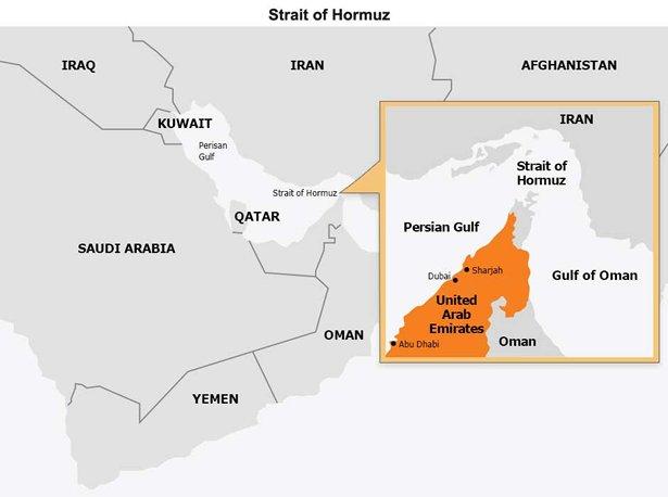 Map: Strait of Hormuz
