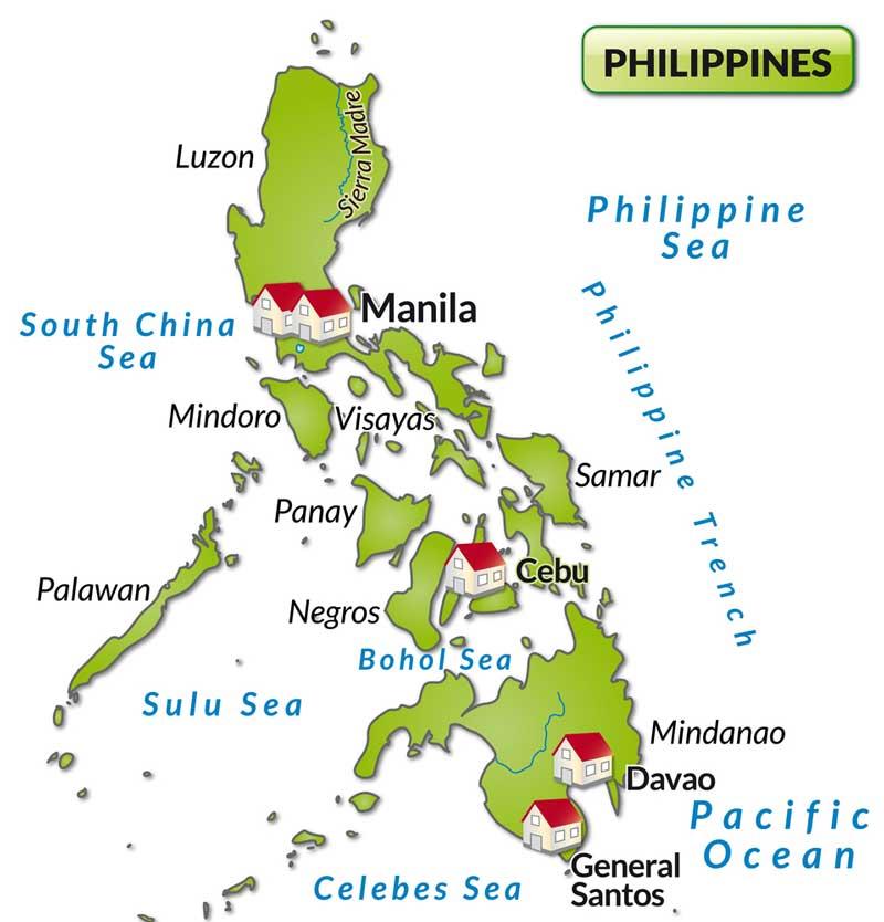 地图: 马尼拉及宿雾位置图