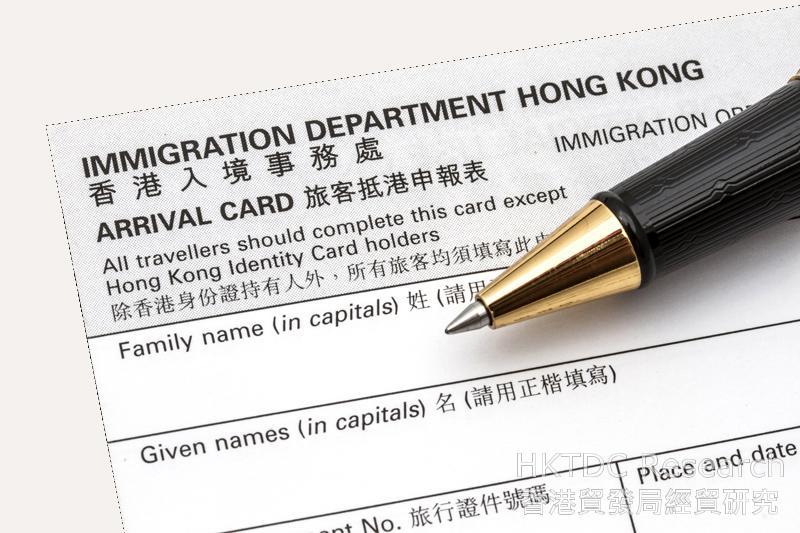 相片:香港在出入境方面十分便利(二)